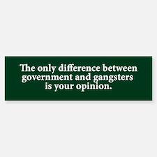 Government & Gangsters Bumper Car Car Sticker