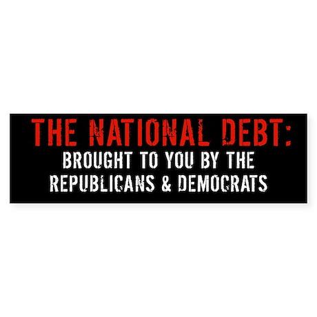 THE NATIONAL DEBT Bumpersticker