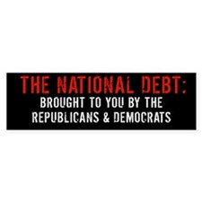 THE NATIONAL DEBT Bumpersticker
