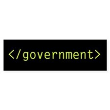 End government Anarchocapitalism bumper sticker