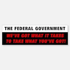 Federal Government Bumper Bumper Bumper Sticker