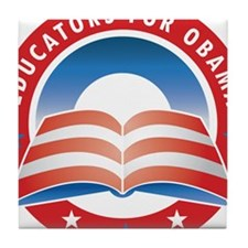 Educators for Obama Tile Coaster