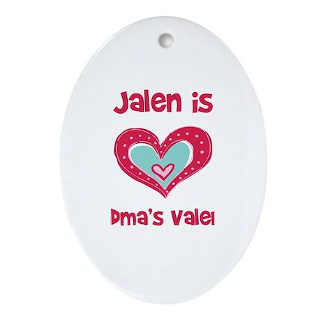 Jalen Is Grandma's Valentine Oval Ornament