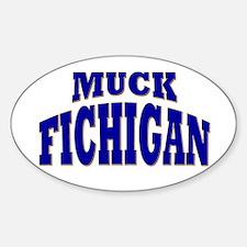 Muck Fichigan Oval Sticker (10 pk)