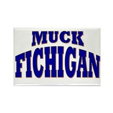 Muck Fichigan Rectangle Magnet