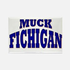 Muck Fichigan Rectangle Magnet