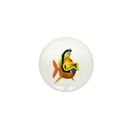 Scuba Fish Mini Button