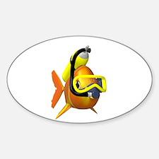 Scuba Fish Oval Decal