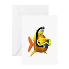 Scuba Fish Greeting Card