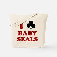 I Club Baby Seals Tote Bag