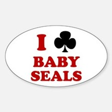 I Club Baby Seals Oval Decal