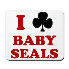 I Club Baby Seals Mousepad