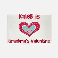 Kaleb Is Grandma's Valentine Rectangle Magnet