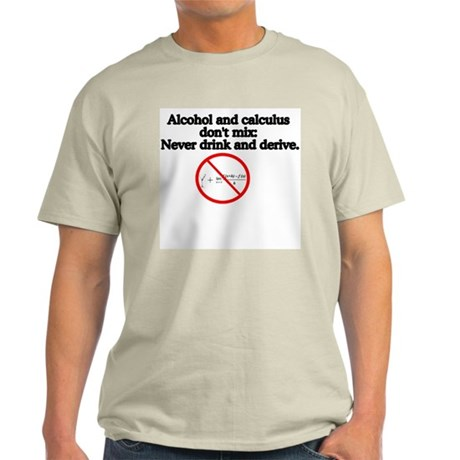 Never Drink and Derive Ash Grey T-Shirt
