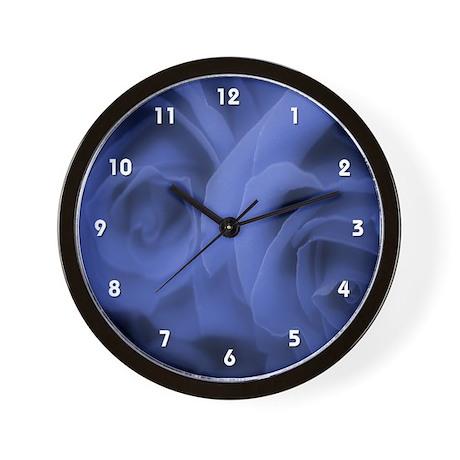 Blue Roses #2 Wall Clock