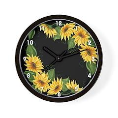 Sunflowers #3 Wall Clock