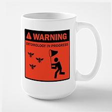 Warning - Entomology in Progr Large Mug