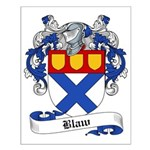 Blaw Family Crest Small Poster