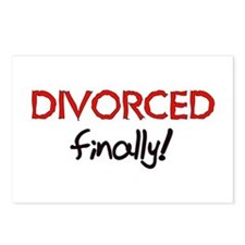 Divorced Finally Postcards (Package of 8)