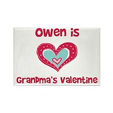 Owen Is Grandma's Valentine Rectangle Magnet