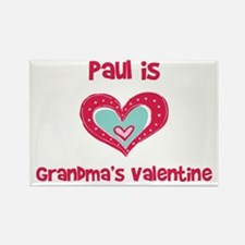 Paul Is Grandma's Valentine Rectangle Magnet