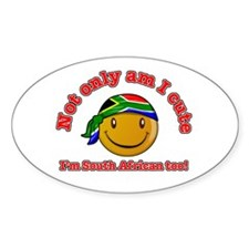 Cute and South African too! Oval Decal