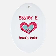 Skyler Is Grandma's Valentine Oval Ornament