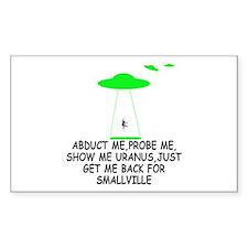 Funny Alien abduction Smallville Stickers