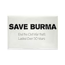 Save Burma Rectangle Magnet (10 pack)