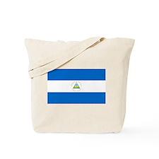 Flag of Nicaragua Tote Bag