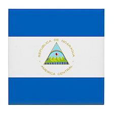 Flag of Nicaragua Tile Coaster