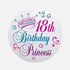 18th Birthday Princess Ornament (Round)