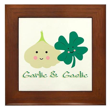 Garlic & Gaelic Framed Tile