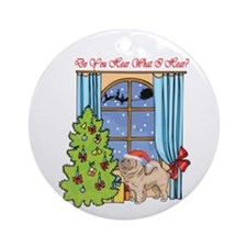 Chow Chow Christmas Ornament (Round)