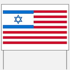 Israeli-American Flag Yard Sign
