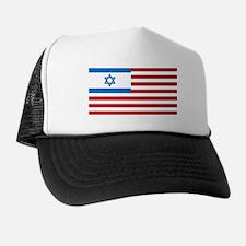 Israeli-American Flag Trucker Hat