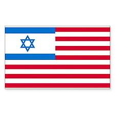 Israeli-American Flag Rectangle Decal
