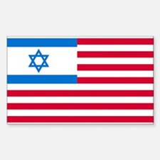 Israeli-American Flag Rectangle Decal