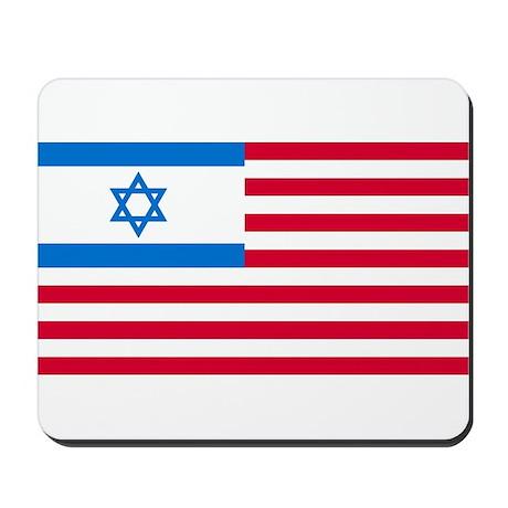 Israeli-American Flag Mousepad