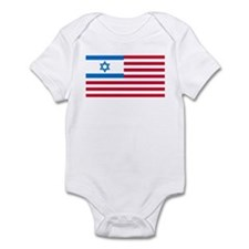 Israeli-American Flag Infant Bodysuit