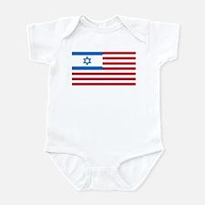 Israeli-American Flag Infant Bodysuit