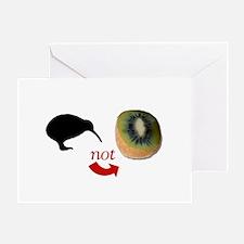 Kiwi not Kiwifruit! Greeting Card