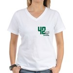 42 (front and back print) Women's V-Neck T-Shirt