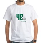 42 (front and back print) White T-Shirt