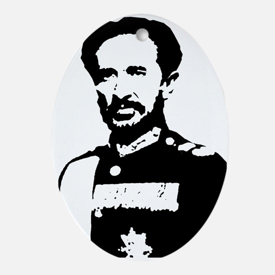 Haile Selassie Oval Ornament