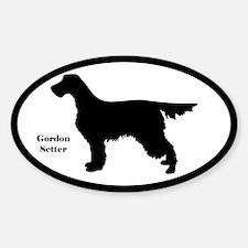 Gordon Setter Silhouette Sticker (Euro Style)
