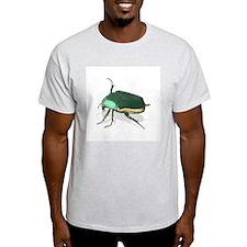 June Beetle Cotinus nitida Ash Grey T-Shirt