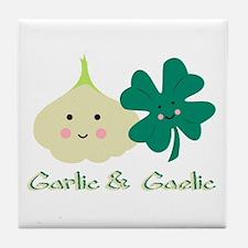 Garlic & Gaelic Tile Coaster