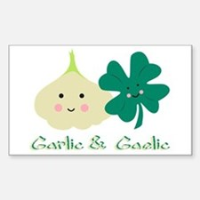 Garlic & Gaelic Rectangle Decal