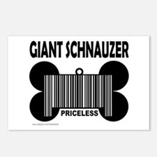 GIANT SCHNAUZER PRICELESS Postcards (Package of 8)